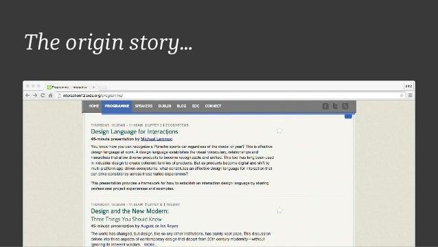 The origin story…