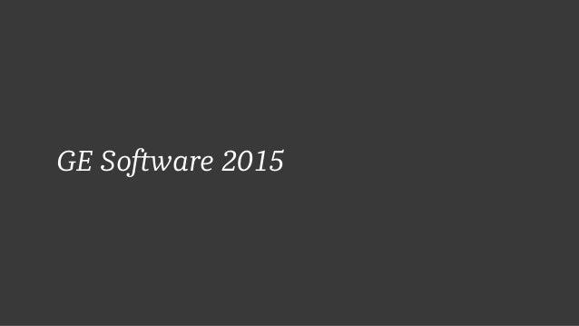 GE Software 2015