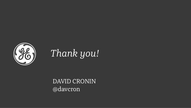 Thank you! DAVID CRONIN @davcron