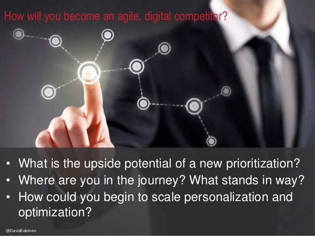 9 How will you become an agile, digital competitor? • What is the upside potential of a new prioritization? • Where are yo...