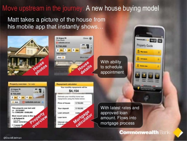 2 Move upstream in the journey: A new house buying model Matt takes a picture of the house from his mobile app that instan...