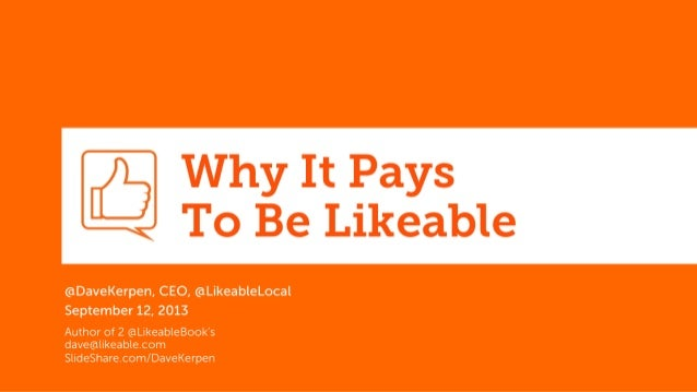 Why it Pays to Be Likeable - Content Marketing at #INbc13