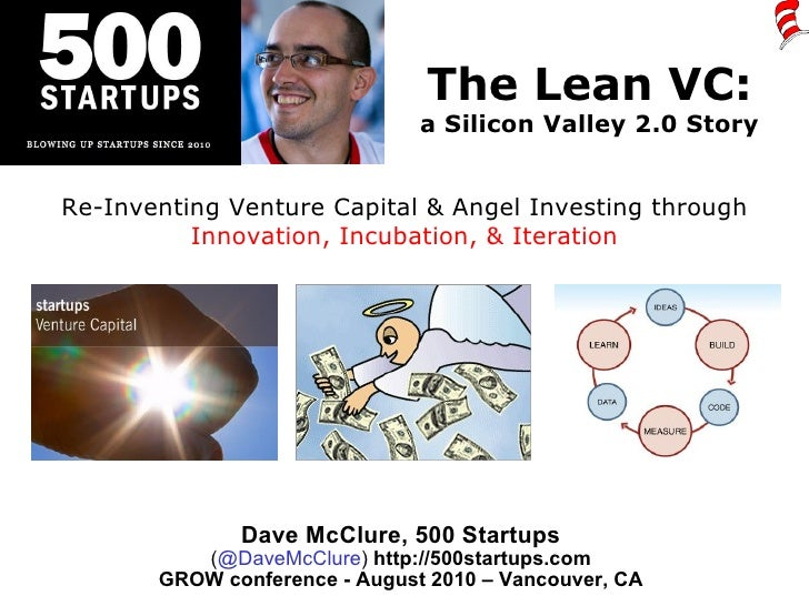 The Lean VC: a Silicon Valley 2.0 Story Dave McClure, 500 Startups ( @DaveMcClure )  http://500startups.com GROW conferenc...