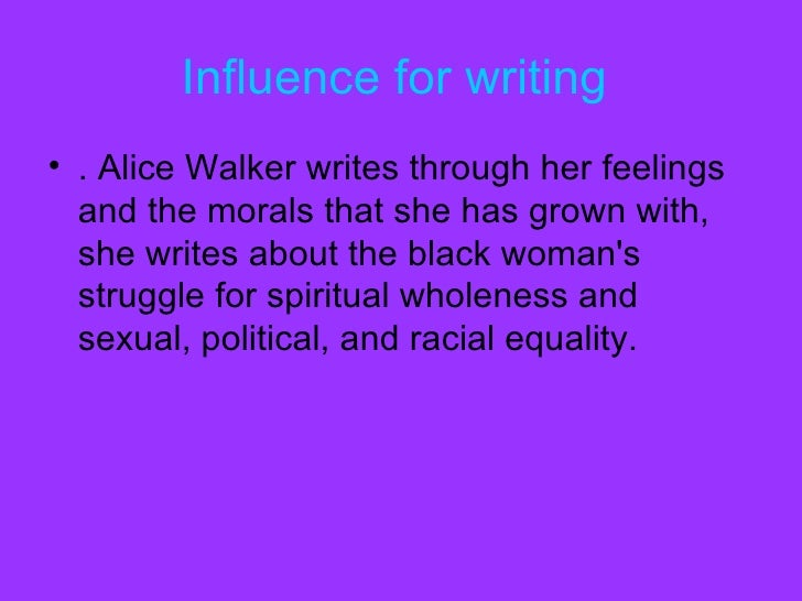 The description of women struggle for sexual and racial equality in alice walkers the color purple