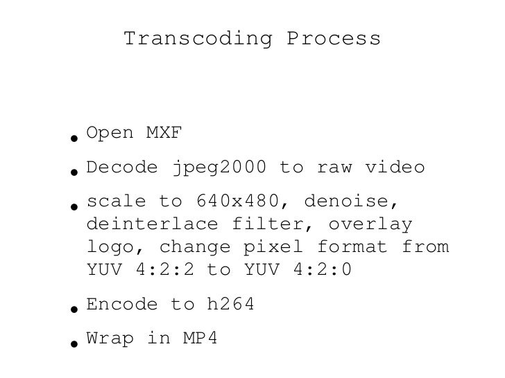 Introduction to Transcoding: Tools and Processes