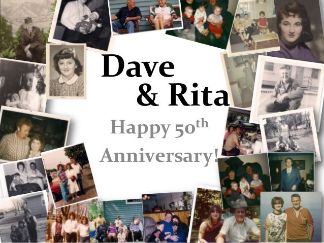 Dave  & Rita Happy 50 thAnniversary!