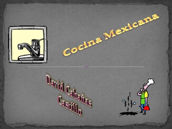 Cocina Mexicana <br />David Cabañas Castillo<br />
