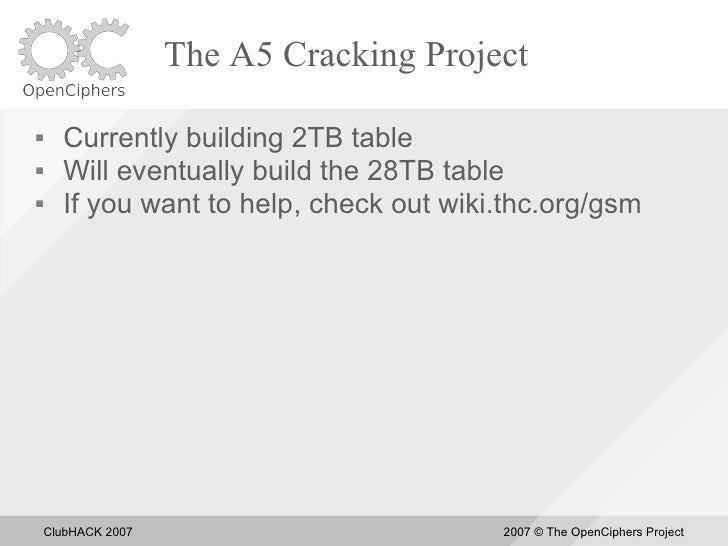 The A5 Cracking Project       Currently building 2TB table      Will eventually build the 28TB table      If you want t...