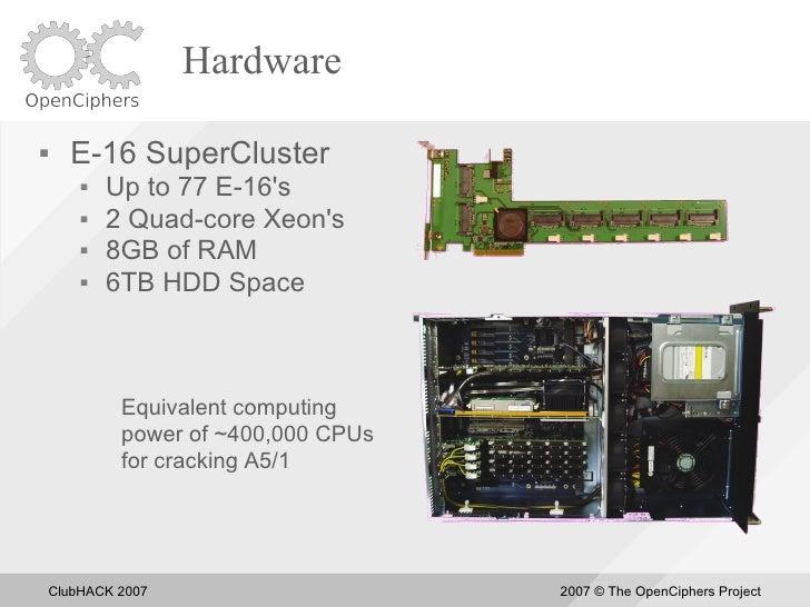 Hardware       E-16 SuperCluster            Up to 77 E-16's            2 Quad-core Xeon's            8GB of RAM       ...