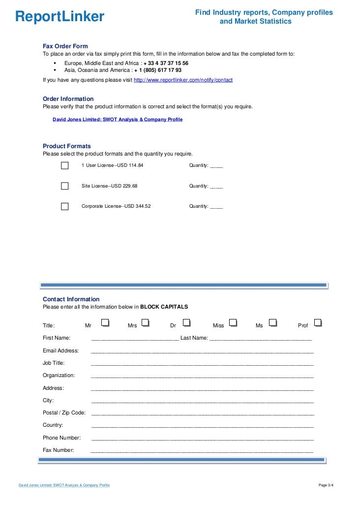 David Jones Limited: SWOT Analysis & Company Profile Slide 3