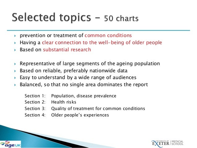David Melzer: Health care quality for an active later life Slide 3