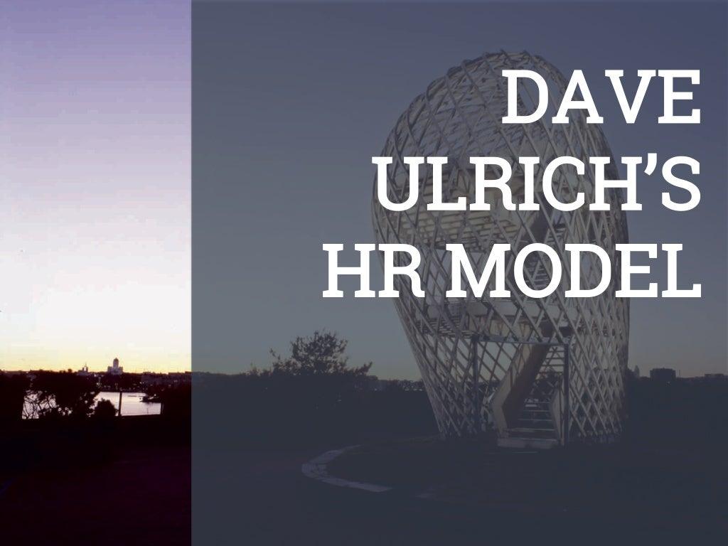 David Ulrich's HR Model