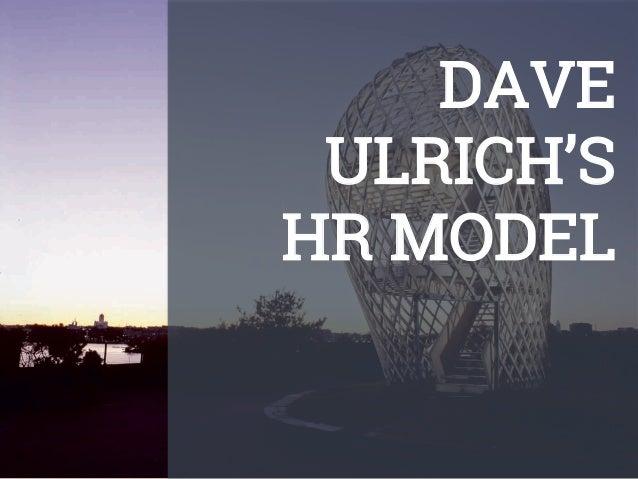 DAVE ULRICH'S HR MODEL