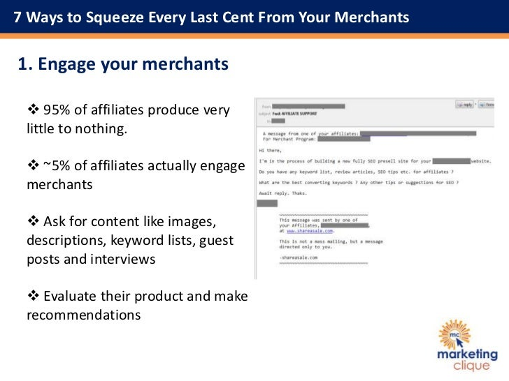 7 Ways to Squeeze Every Last Cent From Your Merchants Slide 2
