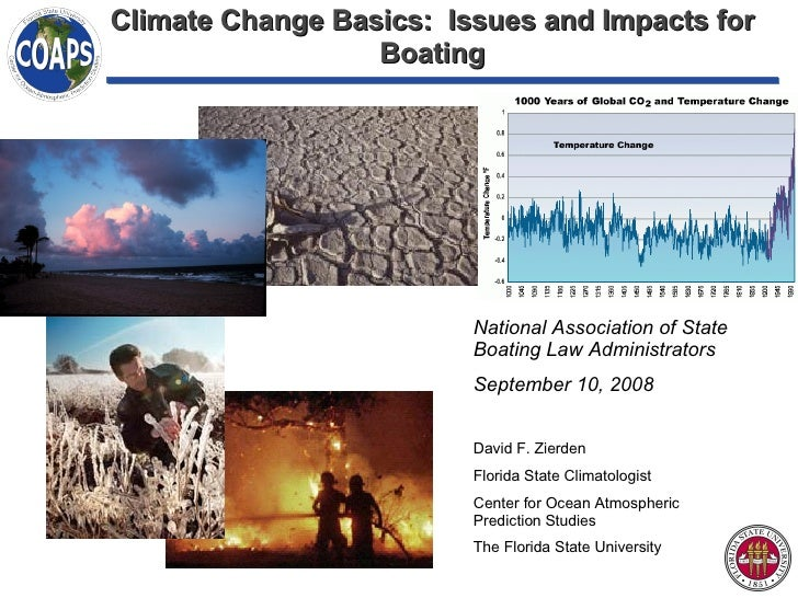 Climate Change Basics:  Issues and Impacts for Boating National Association of State Boating Law Administrators September ...