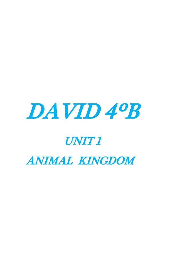 DAVID 4ºB UNIT 1 ANIMAL KINGDOM