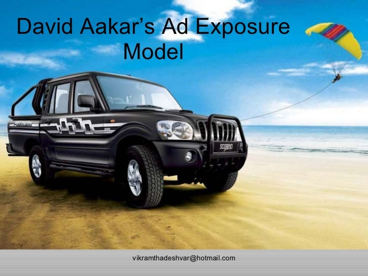 David Aakar's Ad Exposure Model [email_address]