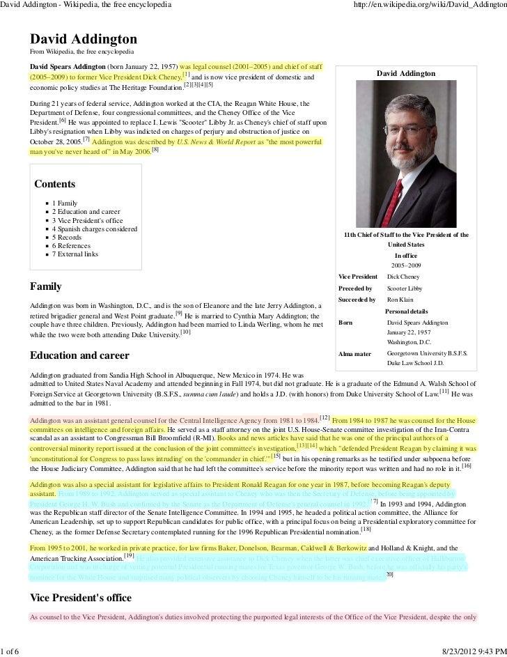 David Addington - Wikipedia, the free encyclopedia                                                                        ...