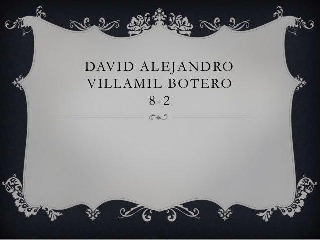DAVID ALEJANDRO VILLAMIL BOTERO 8-2