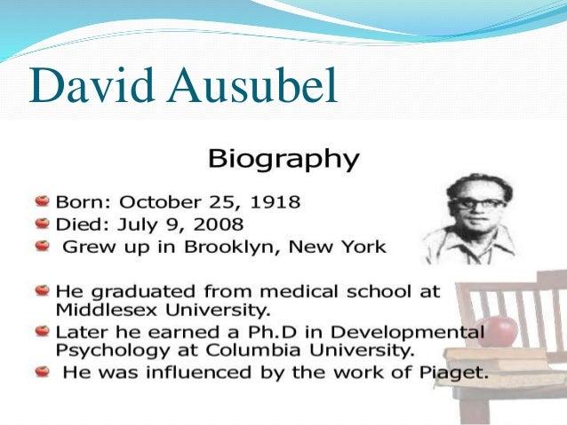 David Ausubel Theory