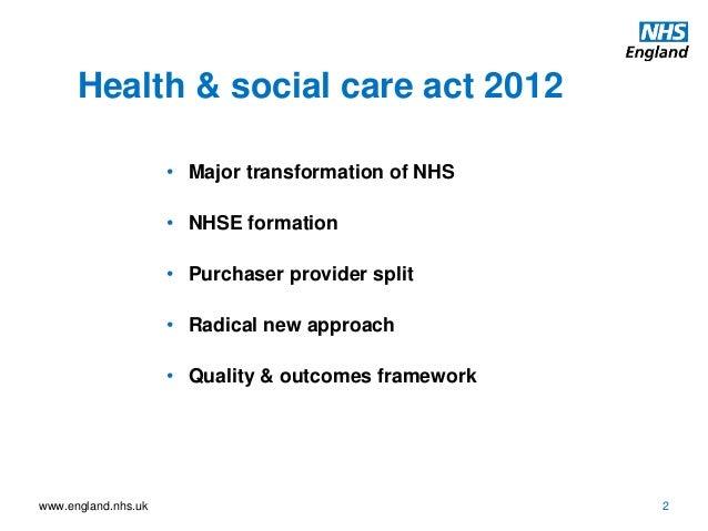 health and social act 2012