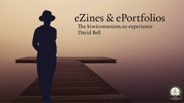 Example of eZines in ePortfolio Profile