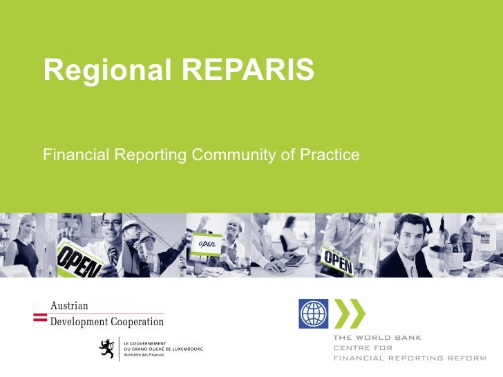 Regional REPARIS Financial Reporting Community of Practice