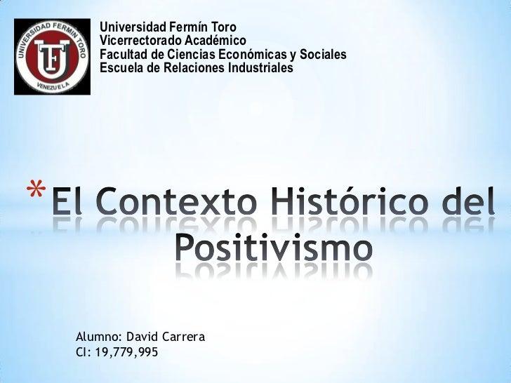 Universidad Fermín Toro       Vicerrectorado Académico       Facultad de Ciencias Económicas y Sociales       Escuela de R...