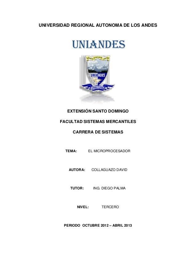 UNIVERSIDAD REGIONAL AUTONOMA DE LOS ANDES           UNIANDES          EXTENSIÓN SANTO DOMINGO       FACULTAD SISTEMAS MER...