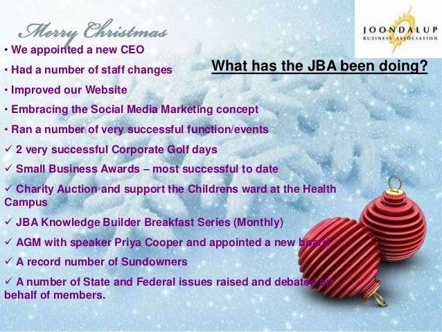 Joondalup Business Association President David Curry Christmas message