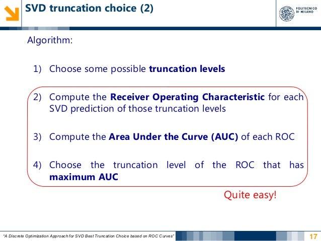 A Discrete Optimization Approach for SVD Best Truncation