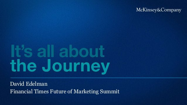 David Edelman Financial Times Future of Marketing Summit