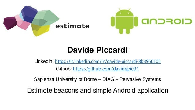 Estimote beacons and simple Android application