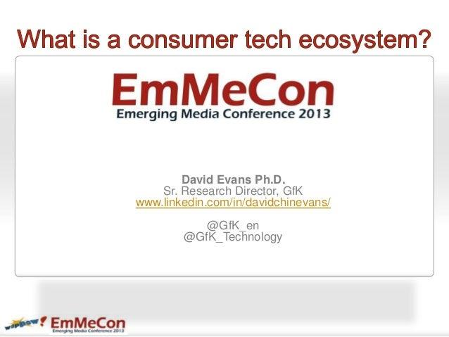 David Evans Ph.D.Sr. Research Director, GfKwww.linkedin.com/in/davidchinevans/@GfK_en@GfK_Technology