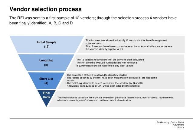 Davide Zari Asset Management Support Tools Selection Example