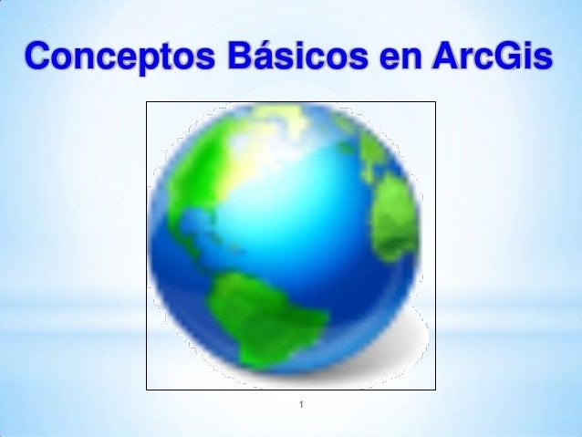 Conceptos Básicos en ArcGis  1