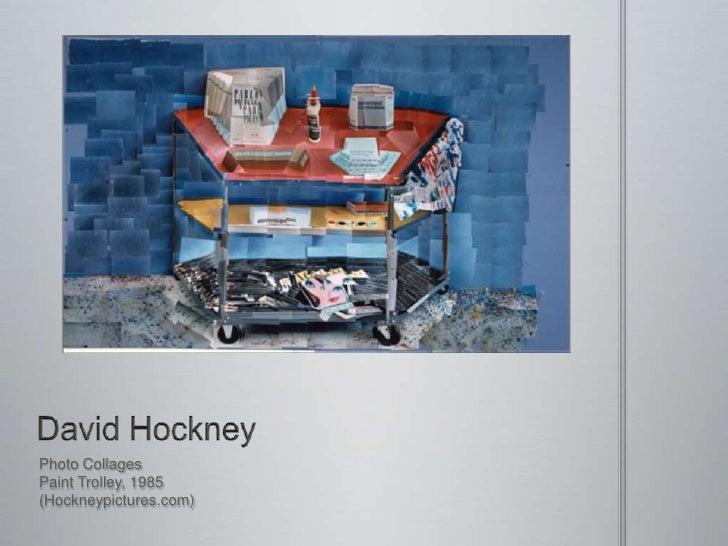 David Hockney<br />Photo Collages<br />Paint Trolley, 1985<br />(Hockneypictures.com)<br />