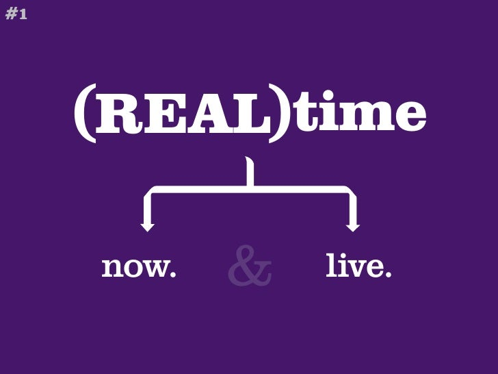 #1          (REAL)time       now.   &   live.