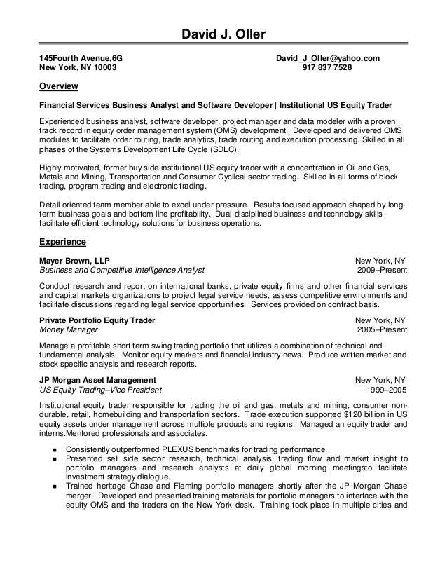 buy side equity trader resume. sample cover letter mr i m ...