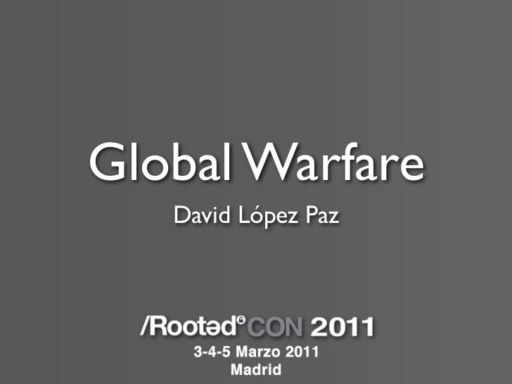 Global Warfare   David López Paz
