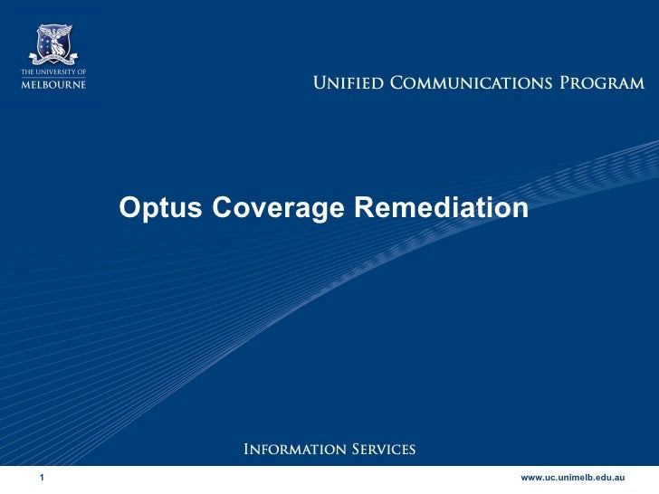 Optus Coverage Remediation