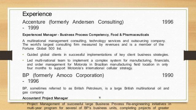 Healthcare Consultant Resume