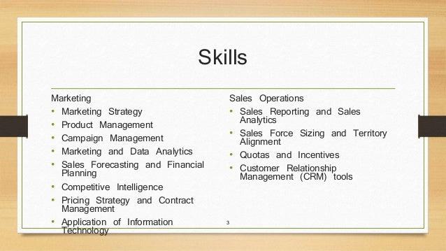 skills for marketing resume
