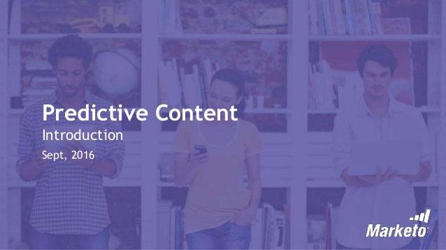 Marketo Predictive content
