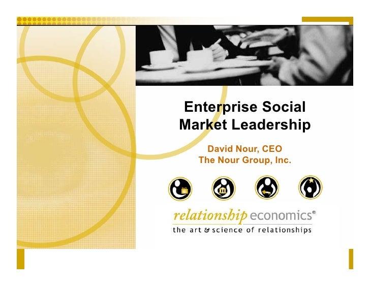 Enterprise Social Market Leadership     David Nour, CEO   The Nour Group, Inc.