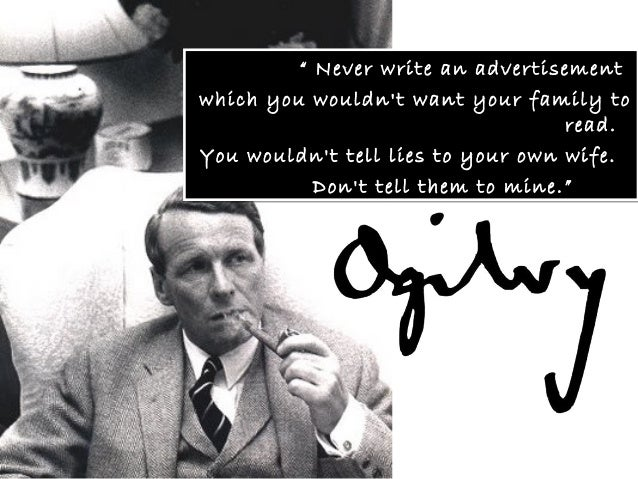 David Ogilvy Quotes Impressive David Ogilvy A History Of Advertising