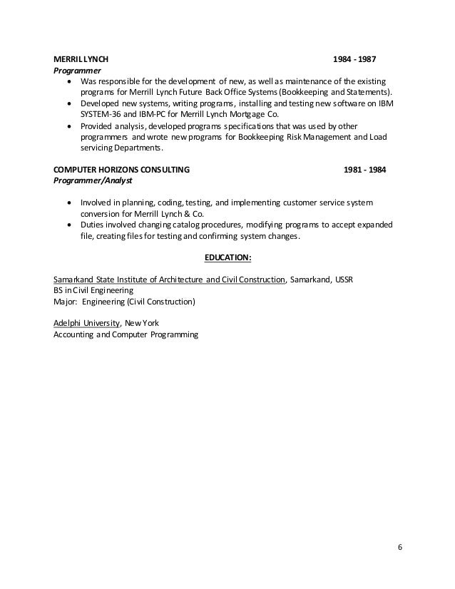 Mortgage Project Testing Resume