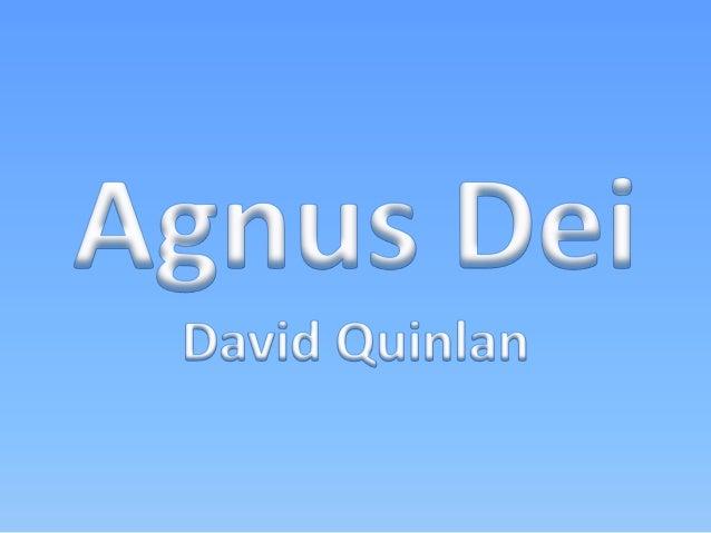 David Quinlan - Agnus Dei Versão 1
