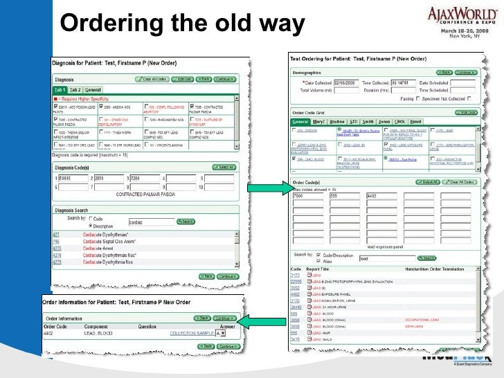 Ordering the old way