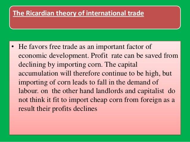 understanding the economics of ricardian